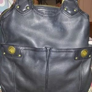Marc Jacobs Teri Turnlock Black Leather Purse